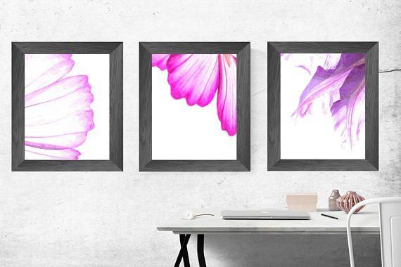 floral watercolor original abstract nursery wall art modern
