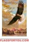 Wings as Eagles Garden Flag