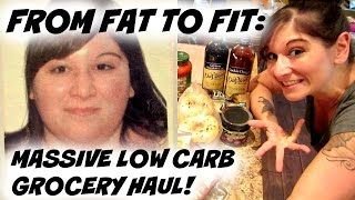 FROM FAT TO FIT: MASSIVE LOW CARB GROCERY HAUL! | Nicole Collet - YouTube