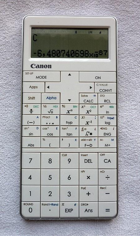 CANON Mark I PRO - 2012 - Calculator