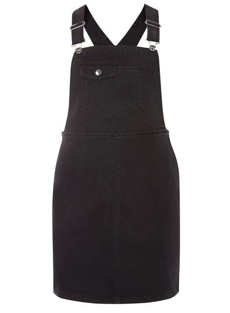 Petite Black Dungaree Dress - Pinafore Dresses - Dresses - Dorothy Perkins