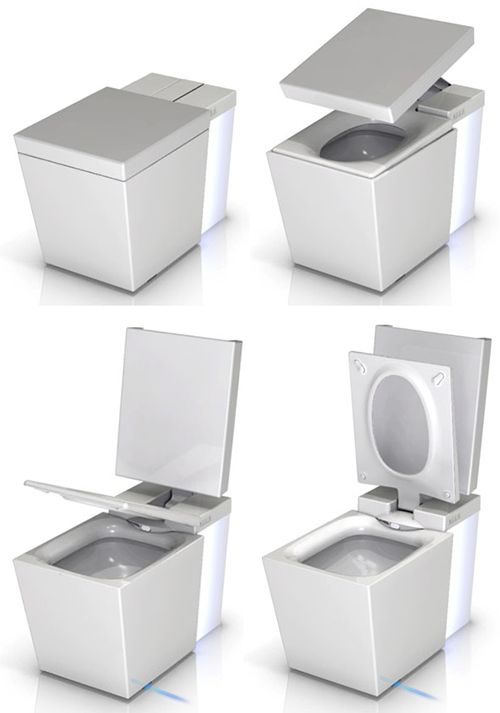 Kohler Numi Toilet is motion activated, plays music, washes, dries, deodorizes, glows and warms your feet ~ I NEED this!