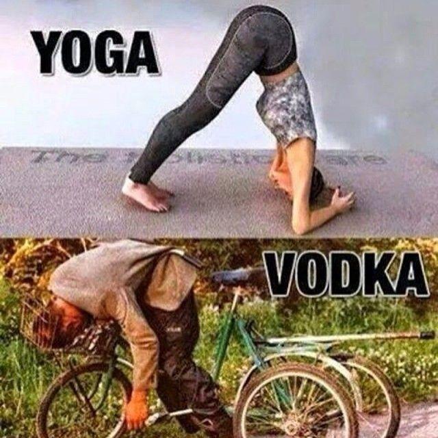 Yoga and Vodka - http://absurdpics.com/funny/yoga-and-vodka/