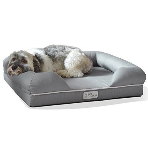 PetFusion Ultimate Pet Bed & Lounge. (Medium Slate Gray, 25 x 20 x 5.5″). Premium Edition w/ Solid 2″ Memory Foam | The Purr-fect Cat Store