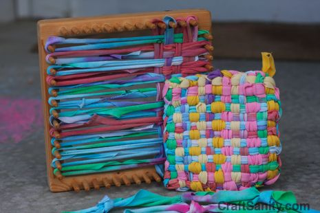 CraftSanity on TV: Making Potholder Loopers Out of Recycled T-shirts - CraftSanity - A blog and podcast for those who love everything handmade
