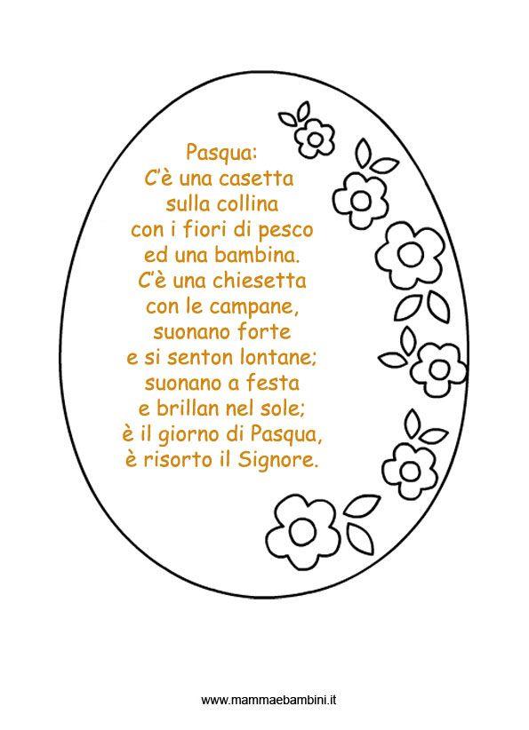 poesie bambini pasqua - Cerca con Google