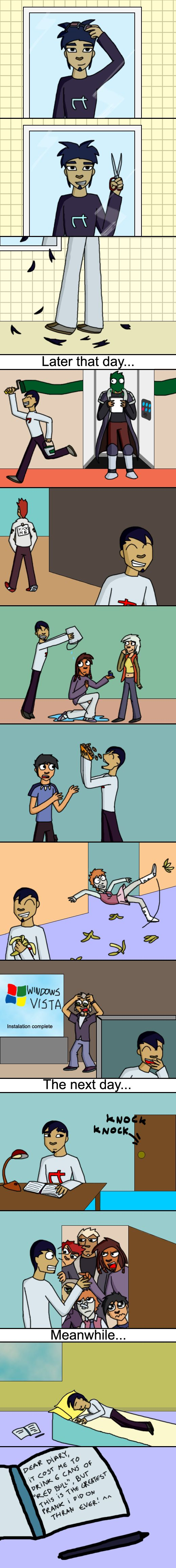 A brother's prank... by Jackasaurusrex.deviantart.com on @DeviantArt