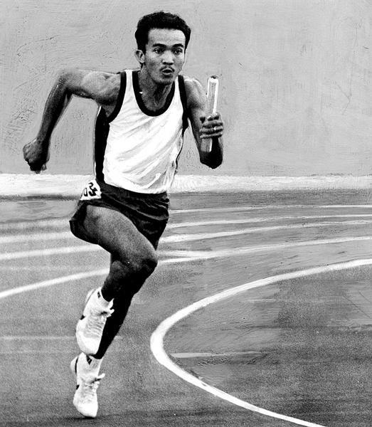 Purnomo, the only Asian semifinalist 100m 1984 Olympic