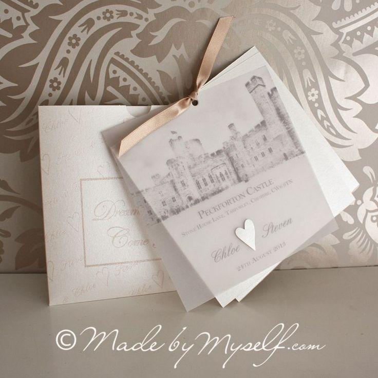 Peckforton Castle Wedding Invitation.