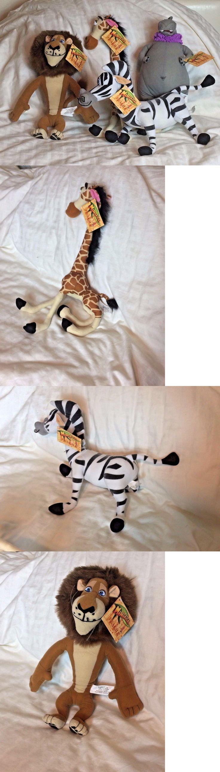 Madagascar 168210: Madagascar Plush Nanco Lot Melman Giraffe Alex Lion Marty Zebra Gloria Hippo Nwt -> BUY IT NOW ONLY: $30 on eBay!