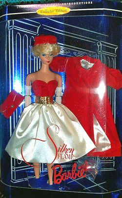Silken Flame Vintage Barbie Doll. I had this beautiful coat.  I remember the handbag, the belt, the hat....