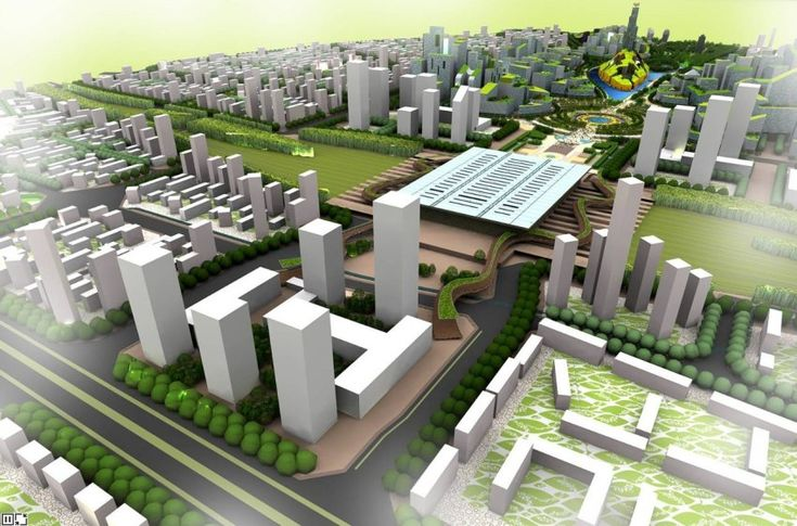 Чэнду Тяньфу (Great City), Китай, экологический город будущего, архитектор Эдриан Смит (Adrian Smith)