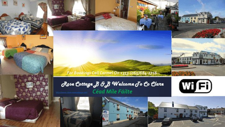 Rose Cottage Guest House Like A Home Away From Home http://www.clare-rosecottage.com/news/bnb-and-ennis/