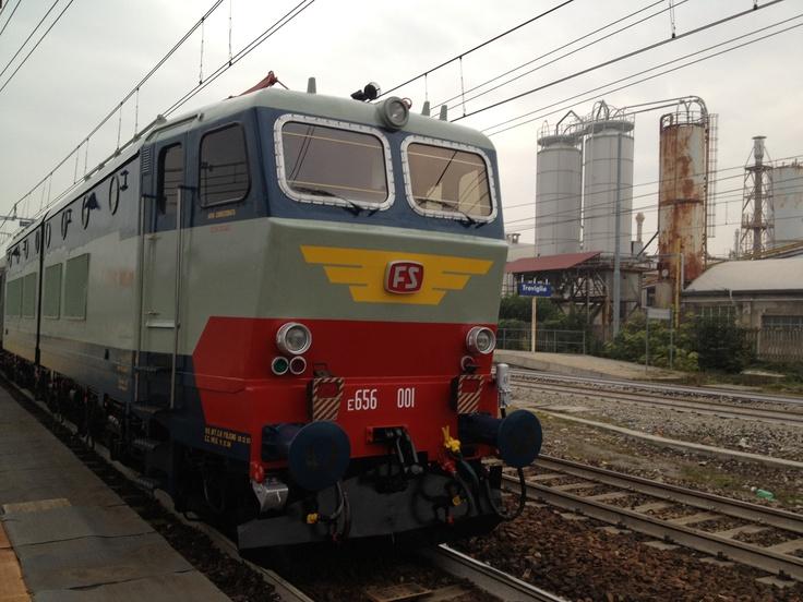 Italian locomotive E656-001 Caiman