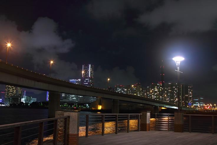 横浜コットンハーバー地区からの夜景  / Free Stock Photos