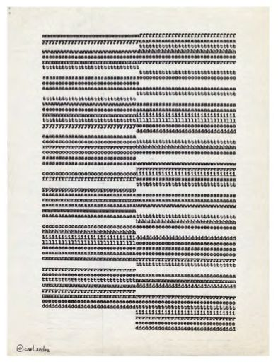 Carl Andre | Untitled (ca. 1953-1963) | Typewriter carbon on paper