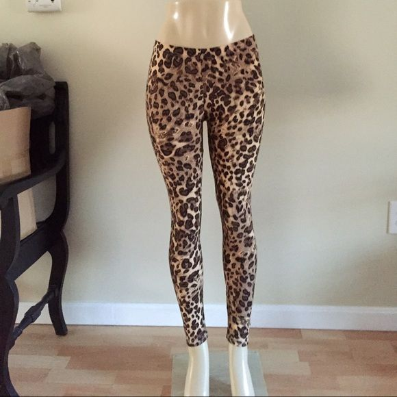 "Cheetah leggings One size fits most.  Inseam 27"", waist stretches flat from 27-33"".  NWOT.  100% polyester; lightweight but not see through.  DO NOT BUY THIS LISTING Please message and I will make one for you.  No tags/ retail. Pants Leggings"