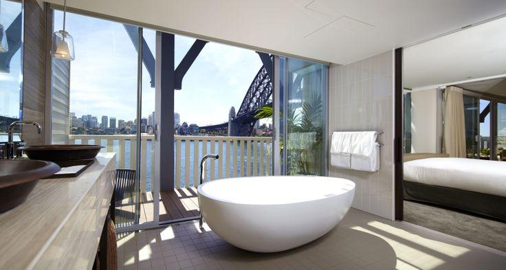 The Sebel Pier One #Sydney Harbour View Balcony Suite #Bathroom #Travel