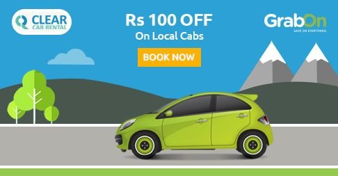 Exclusive GrabOn Coupon at #ClearCarRental. Get Rs100 Off On Local Cab Booking. http://www.grabon.in/clearcarrental-coupons/ #SaveOnGrabOn