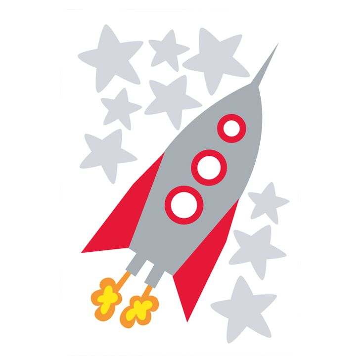 Speckled House Rocket Wall Decal - $24.95 - Space loving, rocket ship flying little astronaut on your hands?  Apply this funky Rocket wall decal to their room and just stand back and watch them squeal in delight!  Complete your space theme with our Galaxy Star Projector night light and Glow In The Dark Stickers! #littlebooteek #kids #baby #nursery #bedroom #decor #speckledhouse