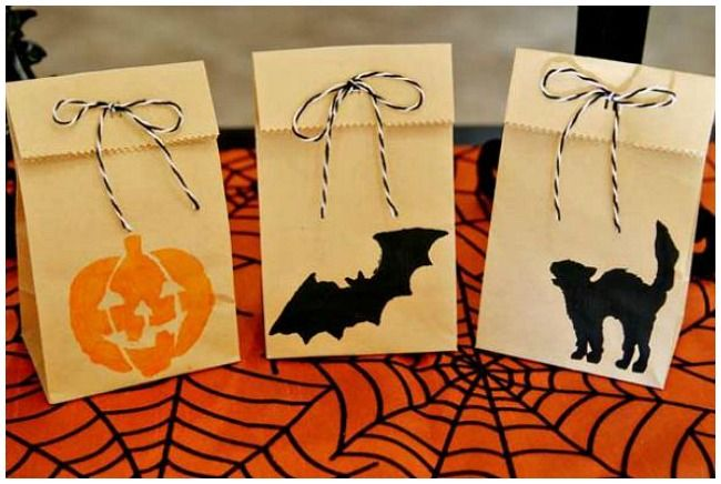 9 best Halloween party bags images on Pinterest Halloween parties - decorate halloween bags