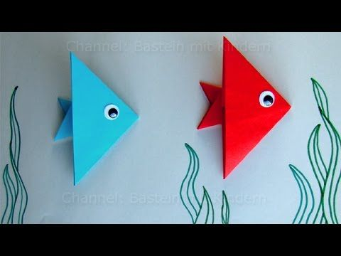 Fische basteln mit Kindern: Ideen Geschenk basteln mit Papier. Leichten ...
