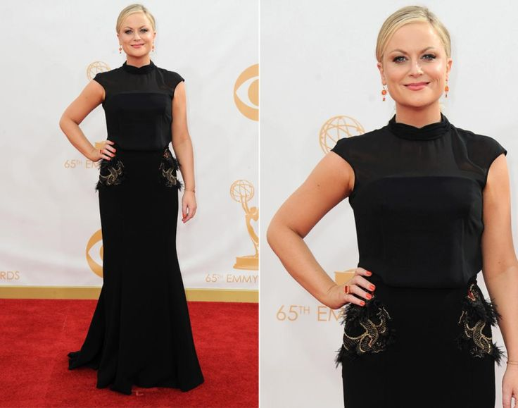 Time and time again, Amy Poehler kills it on the red carpet as one of the coolest -- not to mention most hilarious -- women in the business. The comedienne wore black Basler to the awards show, where she took the stage as a presenter.