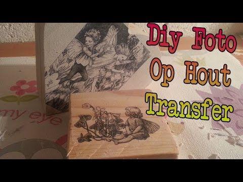 ▶ Diy Afbeelding op Hout transfer, Foto op Hout overbrengen - YouTube