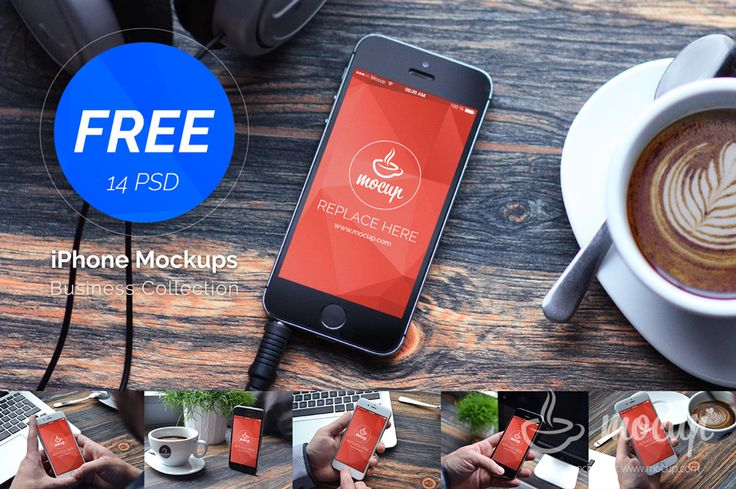 Free 14 PSD iPhones Mockups - Mocup | PSD Mockups, Stock Photos and Videos