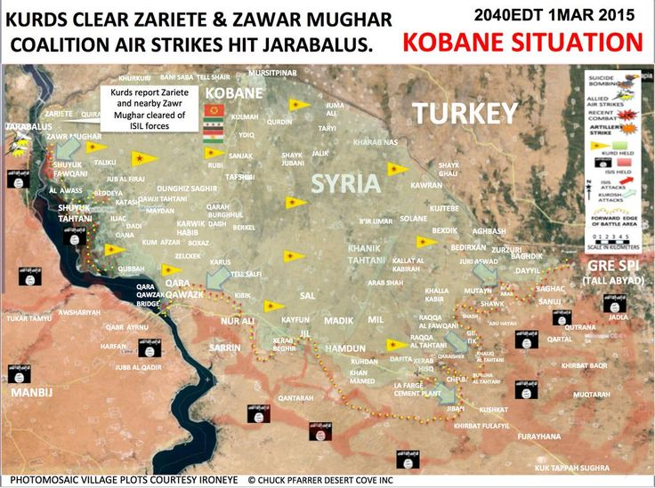 #SYRIA and IRAQ NEWS: #Kobane Update 59 - While Turkey Supply Reconstruction Vehicles, YPG Recover more than 400 Villages Across 2 Cantons. *For More #Iraq and #Syria News...* http://www.petercliffordonline.com/syria-iraq-news-4 PIC: Kobane Canton Situation Map 01.13.15
