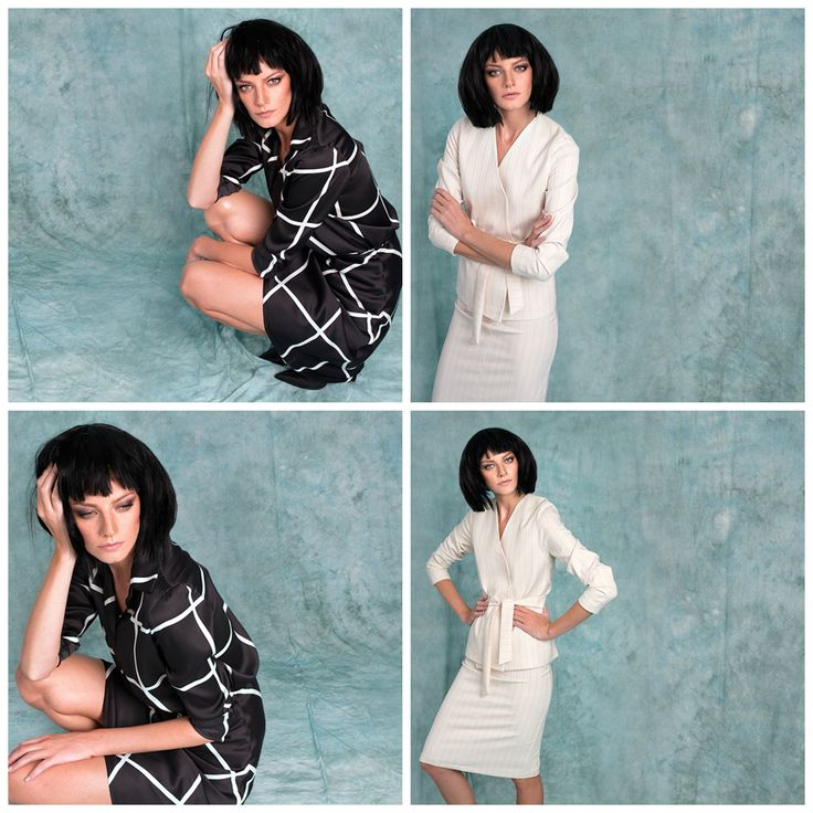 """Would you dare to wear white in autumn? Or you go with the """"safe"""" black? #fall15 #geometricprint #makeyourchoice #whitesuit www.lurestore.eu"""