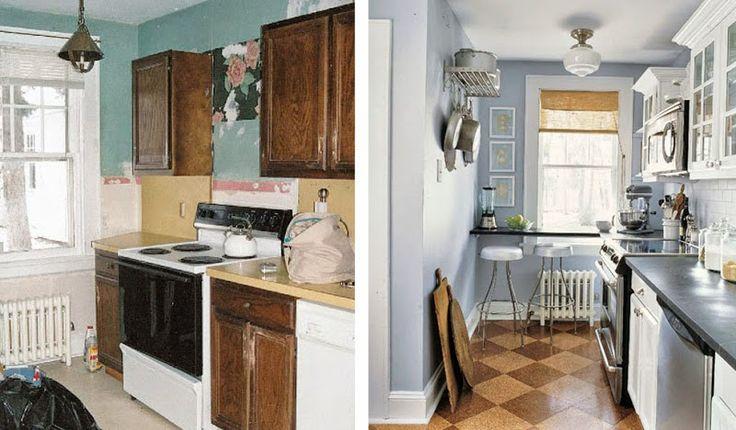die 25 besten ideen zu k che vorher nachher auf pinterest. Black Bedroom Furniture Sets. Home Design Ideas