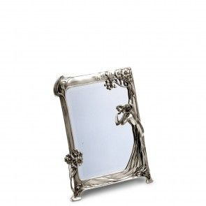 specchio in peltro stile liberty finitura lucida