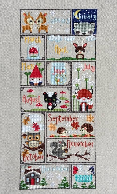 2013 Woodland Sampler - NEEDLEWORK ; cross stitch,  adorable, wish the patternw as still around