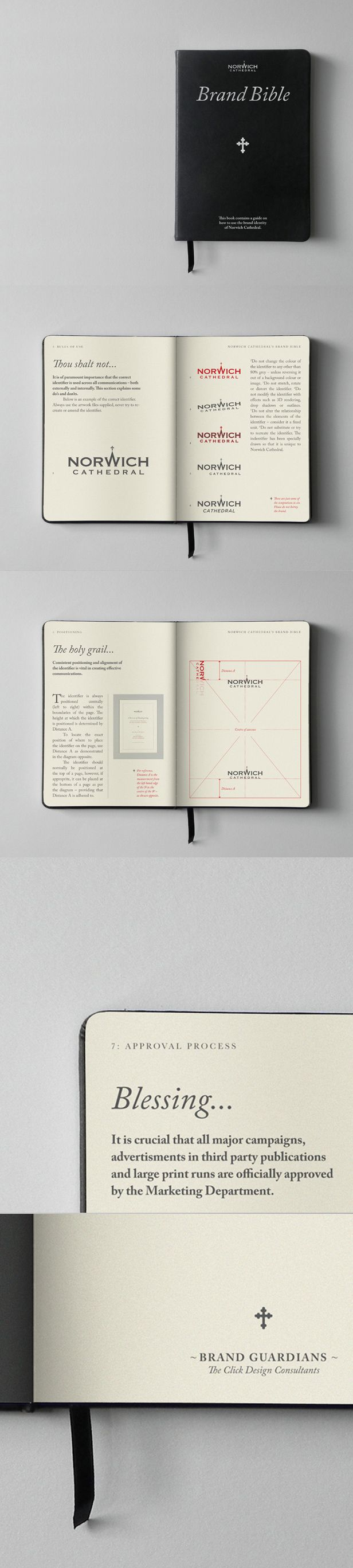 Great brand guidelines for Norwich Cathedral by TheClick Agency