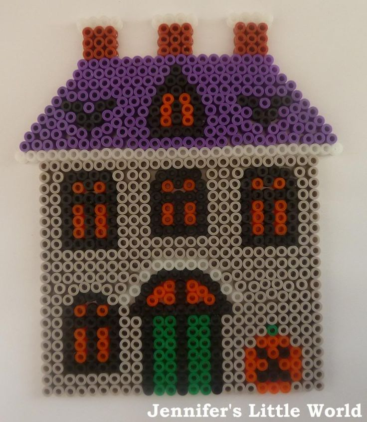 Jennifer's Little World blog - Parenting, craft and travel: Halloween Hama Bead House