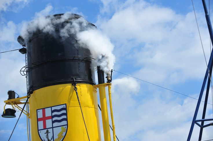 All aboard the historic steam tug William C. Daldy