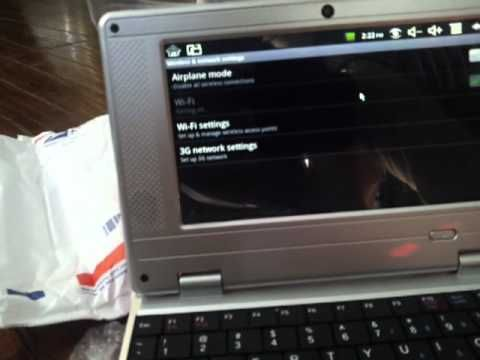 """Wolvol 7"""" Netbook with Camera Startup/Overview Second , login www.wolvol.com"""