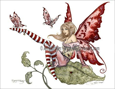 'Flirty Fairy' <BR>by Amy Brown. '