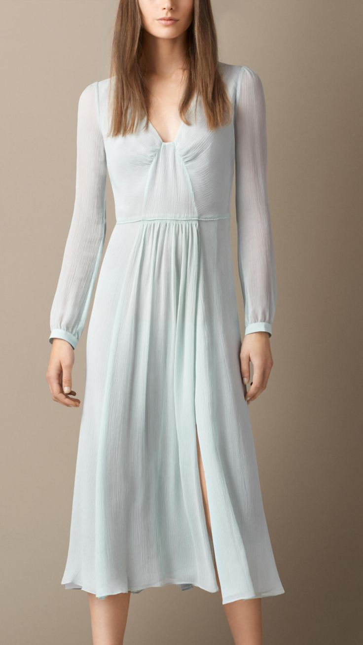 Silk Crépon Dress | Burberry