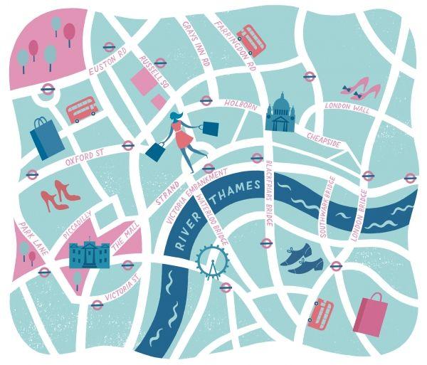 Lucy Davey - Grazia Hat Walk Map