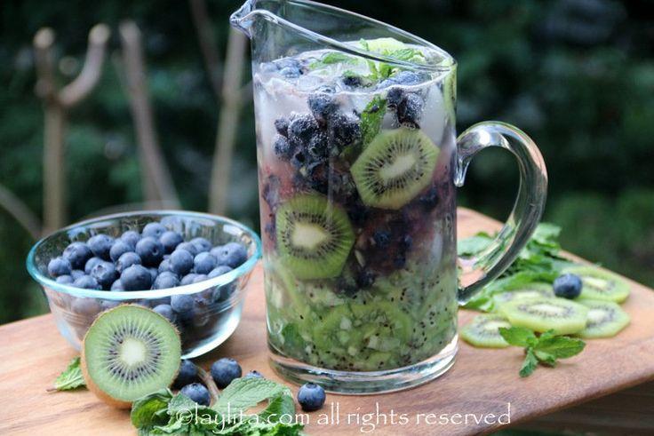 Recette mojito kiwi et myrtilles