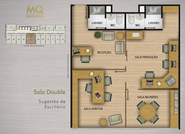 Chiropractic Office Floor Plans 60 Contemporary Designs: Planta Baixa Escritório Comercial