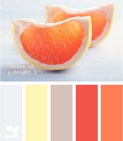 orange gray palette