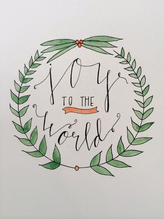 Holiday Handlettered watercolor prints by TheSimpleCityShop - Please consider…