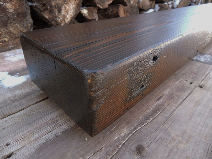Reclaimed Wood Mantel - Rustic Cedar Fireplace Mantel or Mantle Shelf(96 x 7-1/4 x 3-1/2) - Handcrafted By Harvestbilt - Espresso Stained by Harvestbilt on Etsy https://www.etsy.com/listing/268078458/reclaimed-wood-mantel-rustic-cedar
