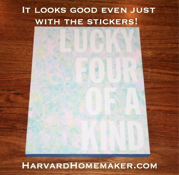Easy DIY Canvas - Harvard Homemaker