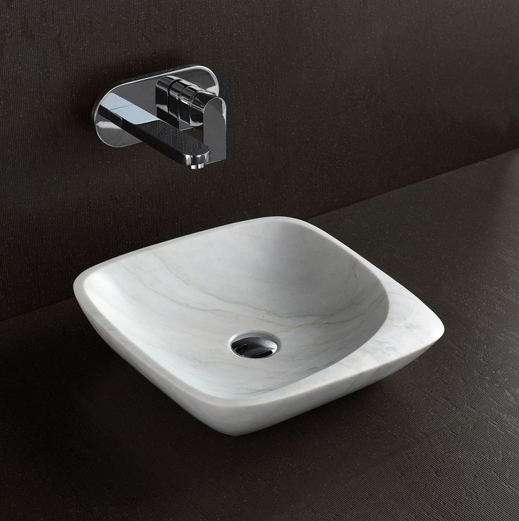 'Maya' White Marble Basin $469