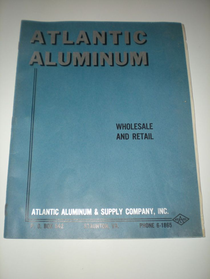 1958 ATLANTIC ALUMINUM & SUPPLY CO STAUNTON VA ROOFING PRODUCTS PRICE SHEETS