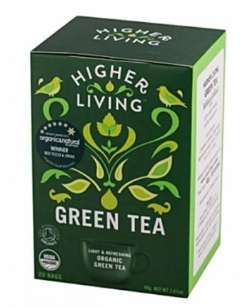 Herbata Green Tea (20 saszetek, 40 g) - Higher Living